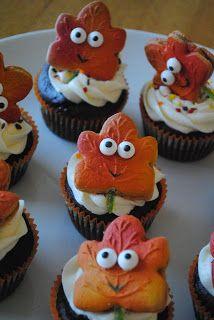 Juli Jacklin's Cupcakes  Maple leaf Cupcakes