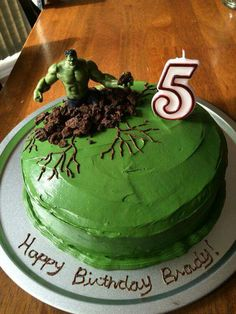My version of the Hulk cake Savannah bday ideas Pinterest Hulk