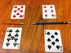 fraction game with playing cards