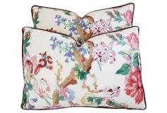 Floral Branch Pillows, Pair