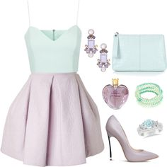 Lavender & Ice by via-m on Polyvore featuring moda, Topshop, Kenzo, Casadei, Robert Rose, Kate Spade, Allurez and Vera Wang
