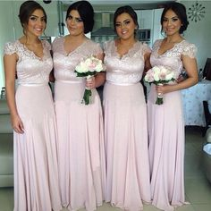 long light lavender v-neck cap sleeve bridesmaid dress, cheap lace wedding bridesmaid dress, E819 · lovebridal · Online Store Powered by Storenvy Cap Sleeve Bridesmaid Dress, Pink Bridesmaid Dresses Long, Blush Pink Bridesmaids, Bridesmaid Dresses Plus Size, Designer Bridesmaid Dresses, Plum Bridesmaid, Wedding Dresses, Blush Prom, Pink Dresses