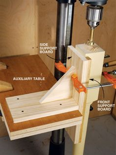 Vertical Drilling jig - Particularly useful for drilling long stock