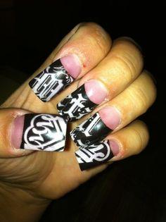 Metal Mulisha Maidens Nails. Nail Art. Manicure.