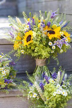 summer sunflower wedding bouquets, veronica - Google Search