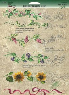 Donna Dewberry One Stroke Painting Patterns Free Face Painting Designs, Paint Designs, Fabric Painting, Diy Painting, Painting Flowers, China Painting, Donna Dewberry Painting, Homemade Face Paints, Homemade Clay