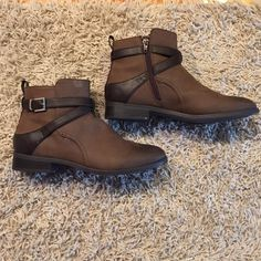 H&M brown jodpur bootie boots size 7 H&M booties size 7. Worn once, great condition. Inside zipper. H&M Shoes Ankle Boots & Booties