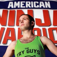 Try Guys take on #AmericanNinjaWarrior. It went exactly how you'd expect. #PositiveThinking #ZachKornfeld