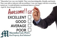 We love it when we get high marks from our clients!