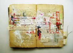 Art journal in an old book ... *le sigh* ...