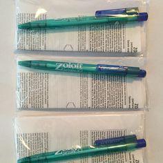 set of 4 actos pharmaceutical drug rep pens
