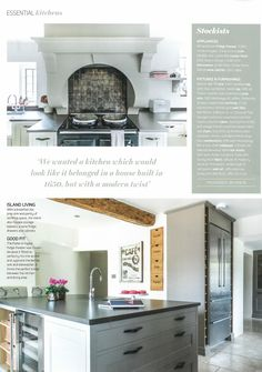 EKBB - August 2015. A gorgeous kitchen case study in this month's issue features our Roman Gold tiles from the Foundry Metallic range as a splashback.