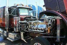 cat, ground pounding power to spare Show Trucks, Hot Rod Trucks, Big Rig Trucks, Old Trucks, Mack Trucks, Rv Truck, Train Truck, Truck Engine, Peterbilt 359