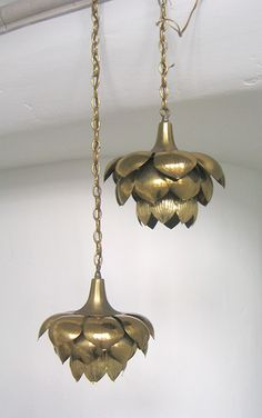 lotus pendant lights -would love one for master bedroom Cool Lighting, Pendant Lighting, Pendant Lamps, Luminaire Design, Lamp Design, Moroccan Lighting, Pooja Rooms, Light My Fire, Brass Lamp