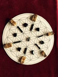 how to make your own crystal grid cloth