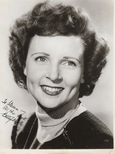 Betty white young | All The Best, Autographs: Happy Birthday to You!!!!!
