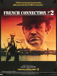 "French Connection II (1975) Vintage French Movie Poster - 23"" x 31"""