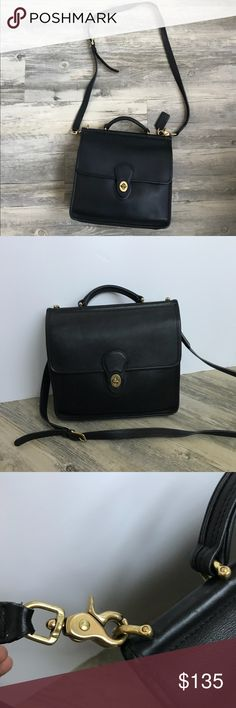 Vintage Coach Willis Leather Crossbody Bag This bag is beautiful! And authentic. It's in great condition for how old it is! Ask me questions if you have any :) Coach Bags Crossbody Bags