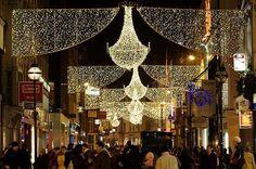 Grafton Street xmas lights, Dublin :)