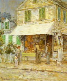 Provincetown Grocery Store - Childe Hassam, c. 1900