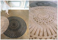 Laser Cut Vinyl Rugs? Laser Cut anything typically makes me happy, but this is FANTASTIC...
