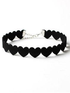 Choker Necklace Online, Collar Necklace, Diy Choker, Jewelry Necklaces, Heart Necklaces, Necklace Set, Black Choker Necklace, Punk Jewelry, Pendant Necklace