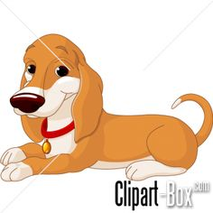 CLIPART LAYED DOGGY