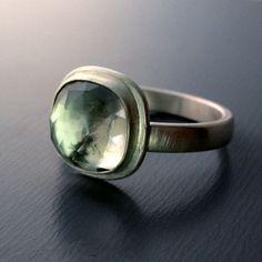 Lisa Hopkins - Green Amethyst Ring in PMC