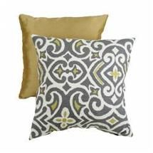 Walmart: Pillow Perfect 434124 Decorative Gray-Yellow Damask 16. 5 inch Square Toss Pillow, $23.10