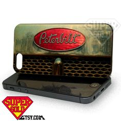 Peterbilt Truck - iPhone 4/4s/5/5s/5c Case - Samsung Galaxy S2/S3/S4 Case - Black or White by SUPERSOLD on Etsy