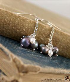 Misty  Solid Sterling Silver Freshwater Pearl by CastalynStudios, $23.00