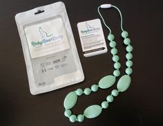 Ruby Roo's Silicone Teething Necklace great for mama's of teething babies #rubyroobaby