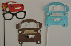 3 Car Inspired Photo Booth Party props by weddingphotobooth, $45.00