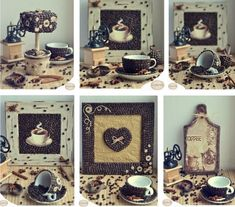 Decorating with coffee beans