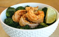Magic Shrimp - a shrimp and broccoli dish made on just a baking sheet. Minimal clean up, minimal fuss, faster than takeout.