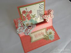 Fancy Fold Cards, Folded Cards, Joy Fold Card, Swing Card, Step Cards, Shaped Cards, Easel Cards, Stamping Up Cards, Butterfly Cards