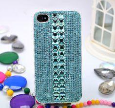 For iPhone 5s,5 Phone Case Bling Swarovski Chain Gem Sliver Crystal Decoration Back Cover-LE0015L