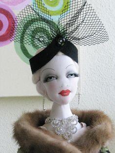 OOAK Camilla Vanilla 22 034 Lady Art Doll All Cloth BJD Size by Gayle Wray…