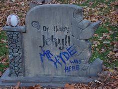 Halloween Forum member mikeofthedead Jekyll/Hyde tombstone