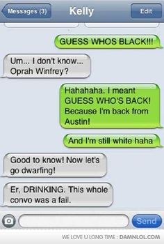 Guess Who's Black, Black Again - Damn! LOL