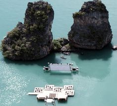 A floating movie theater in Thailand is the grand-daddy of all outdoor screens