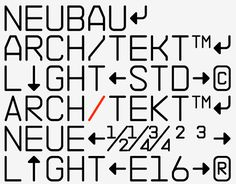 NB Architekt™ Light & NB Architekt™ Neue Light, 2016 EditionMonospaceNB Architekt™ Light & NB Architekt™ Neue Light is part of NB Architekt™ Neue Std Edition (incl. a total of four styles). Originally released as 'NB 45RMS' (Light) in 2002, the typef…