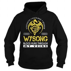 Awesome Tee WYSONG Blood Runs Through My Veins (Dragon) - Last Name, Surname T-Shirt T shirts