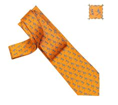 [[A Cheval sur mon Skate Hermes silk twill tie, hand-folded, 3.15'' wide]] Funny. So endearing! x