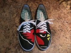 AZ Cardinals Custom Hand Painted Shoes by suttongear on Etsy, $99.00 so kewl!!!