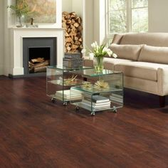 TrafficMASTER Dark Brown Hickory 7 mm Thick x 8.03 in. Wide x 47.64 in. Length Laminate Flooring (23.91 sq. ft. / case)-368161-00287 - The Home Depot