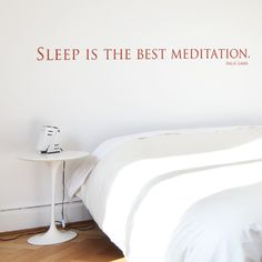 wall sticker quote sleep is the best meditation #CoolWallArt