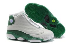 d069ac22710b5d Discount Air Jordan 13 Ray Allen PE Basketball Shoes White Green Add A  Retro Style To Your Shoe Cabinet By Shopping For Sneakers At Our Site Today.