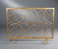 Antique Gold Circles Decorative Firescreen, No Mesh