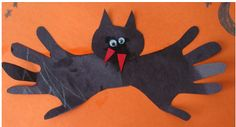 Hand print bats! Easy project!